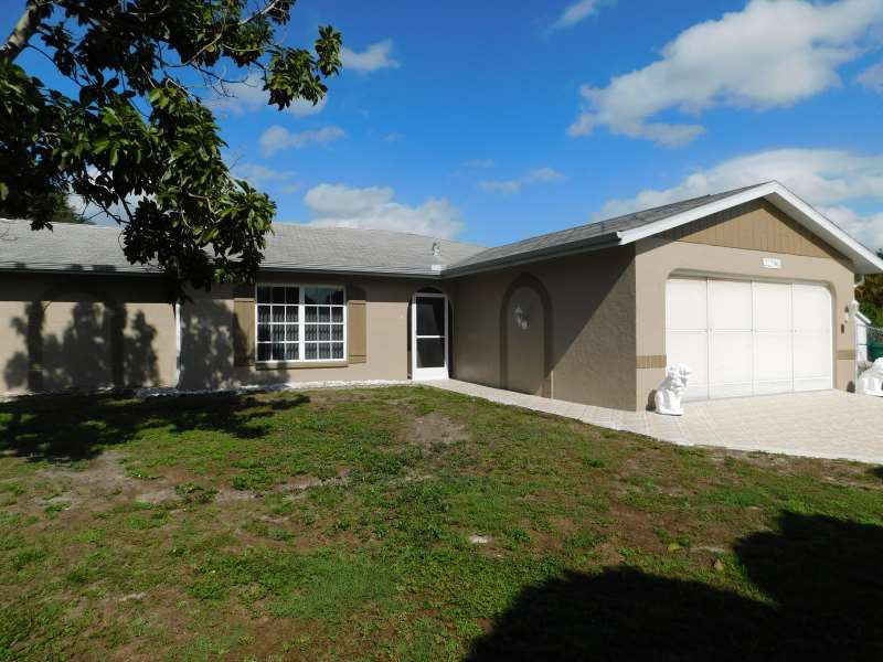 Port Charlotte Home Situated on Two Lots
