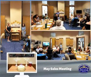 Five Star Realty May Sales Meeting