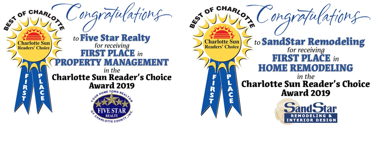 Congratulations!  Five Star Realty Property Management Team & SandStar Remodeling!!