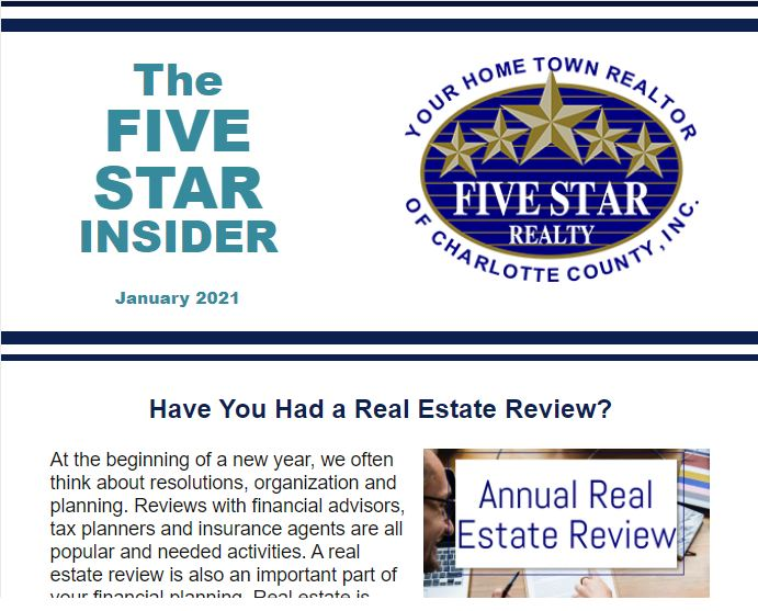 The January 2021 Issue of the Five Star Insider