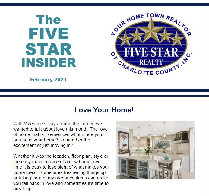 The February Issue of the Five Star Insider