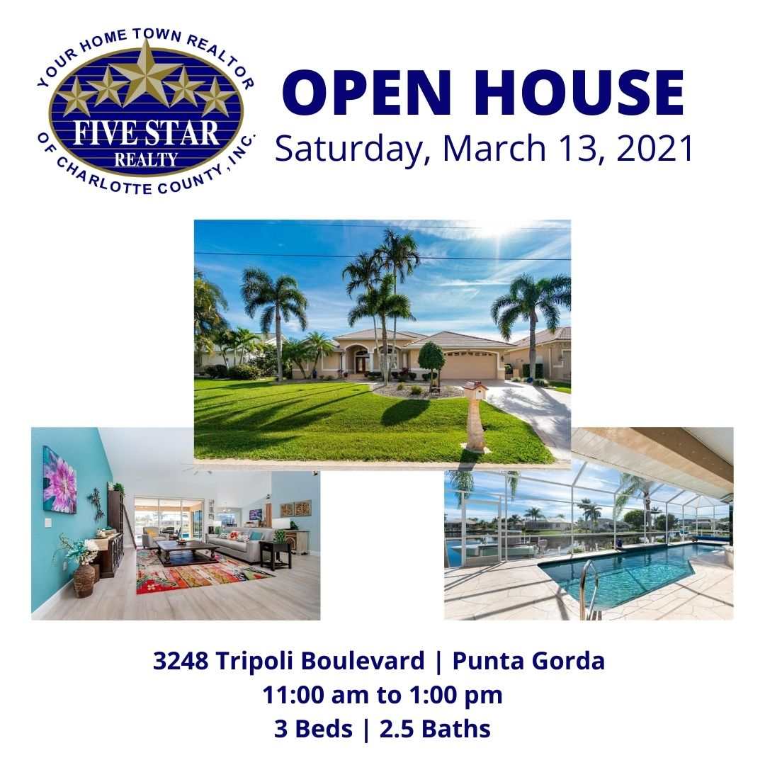Open Houses for Saturday, March 13, 2021