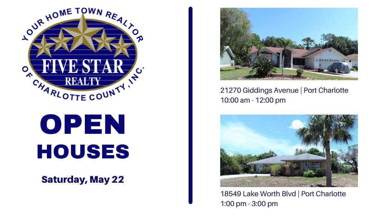 Five Star Realty Open Houses for May 22, 2002